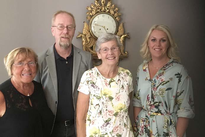 Karin Liljestrand, Per Lundström och Berit Bölander från SKPF Pensionärerna, träffade äldreminister Lena Hallengren för ett informellt samtal.