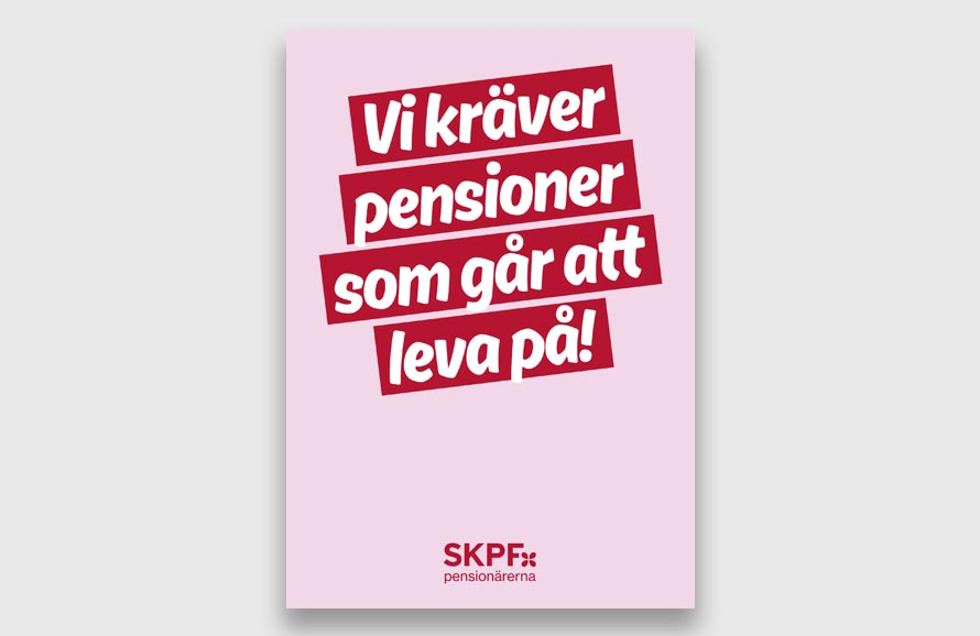 SKPF flygblad pensioner att leva på