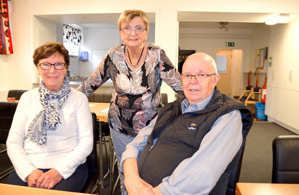 Skellefteå avd 58: Kerstin Weidersjö, Gulli-Maj Norén och Mats Marklund.