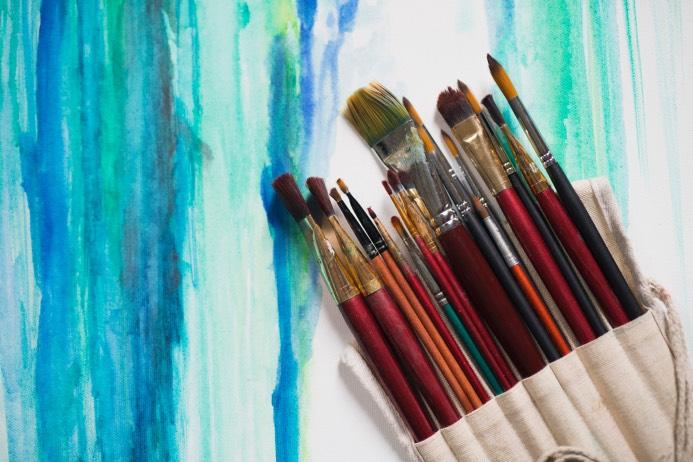 Akvarellmålning med SKPF Pensionärerna