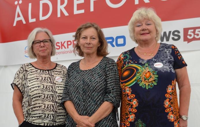 Eleonor Wikman, SKPF Pensionärerna, Marta Szebehely, Stockholms universitet, och Liza di Paolo Sandberg, SKPF pensionärerna.