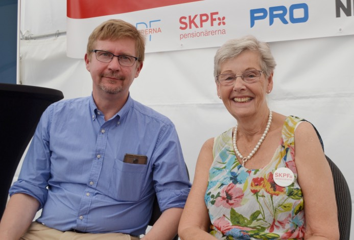 Markus Jäntti, SU, och Berit Bölander, SKPF Pensionärerna.