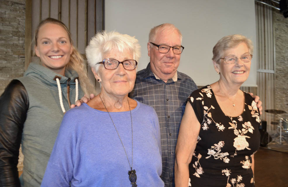 Sara Sjödin från Kommunal och Brita Semb, Ingmar Andersson och Berit Bölander från SKPF Pensionärerna deltog på SKPF-dagen.